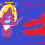 A PURPLE POPE AND RED SHOES