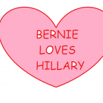 BERNIE LOVES HILLARY