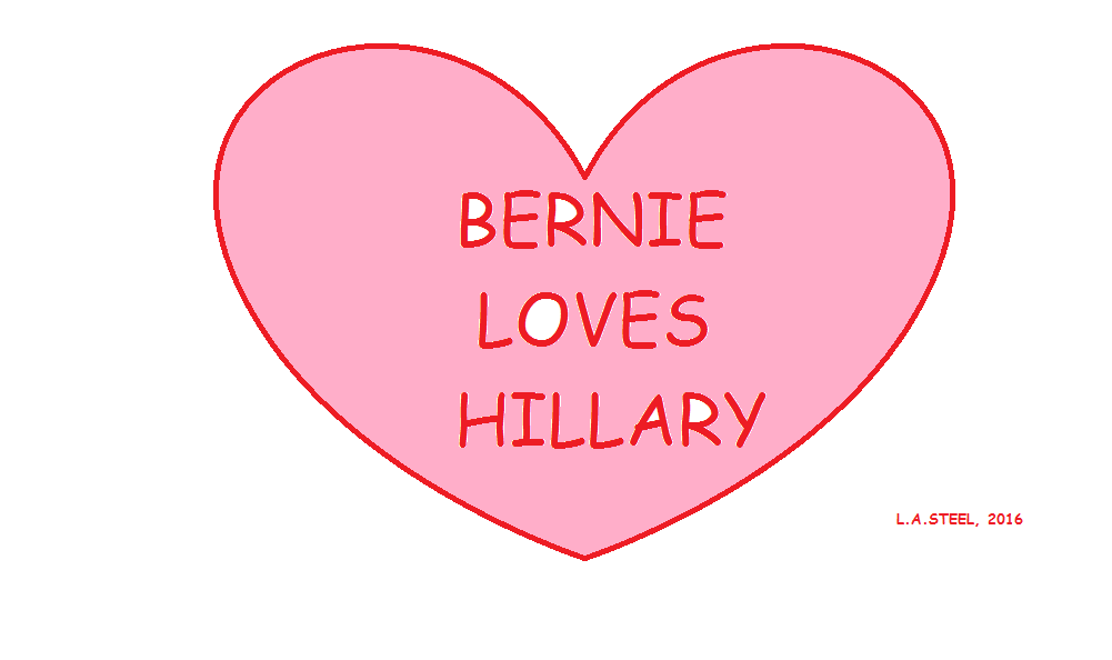 BERNIE LOVES HILLARY