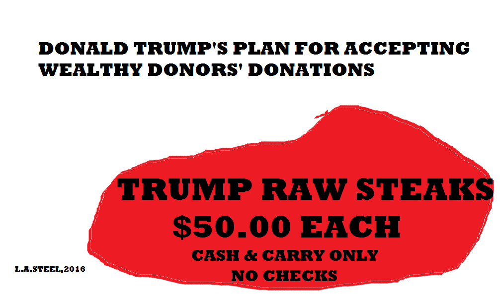 TRUMP RAW STEAKS