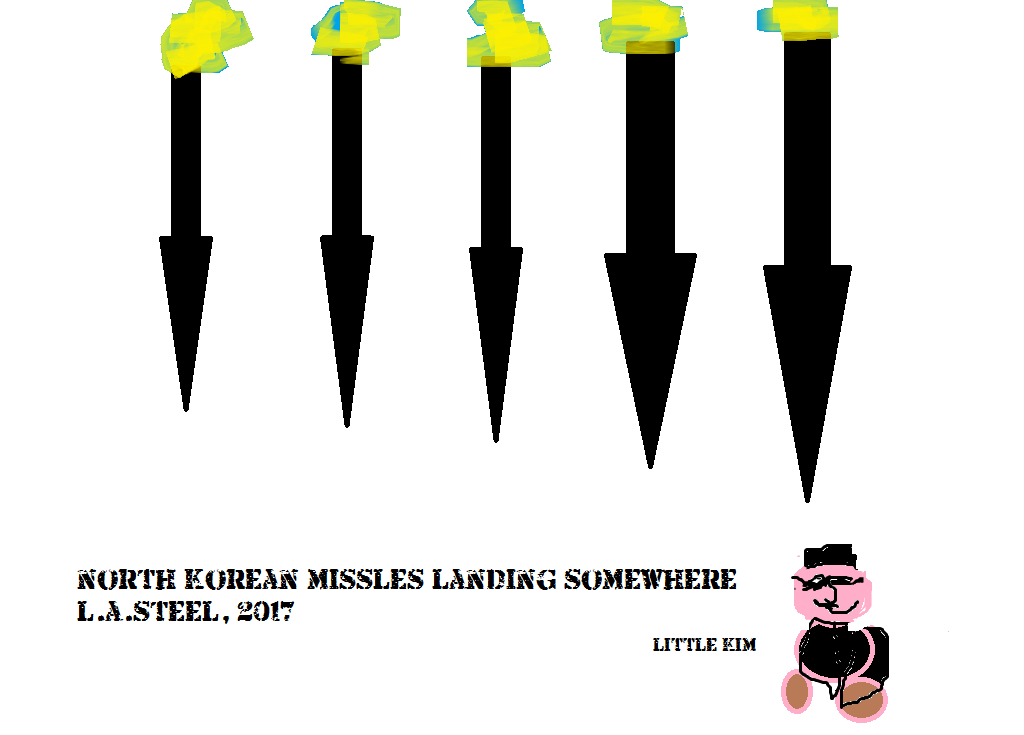 north korean missles falling somewhere 2017