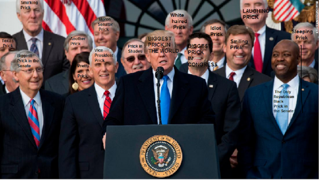 REPUBLICAN TAX BILL PRICKS 2017