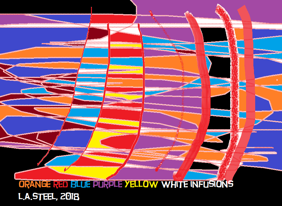 orange red blue purple yellow white infusions 2018