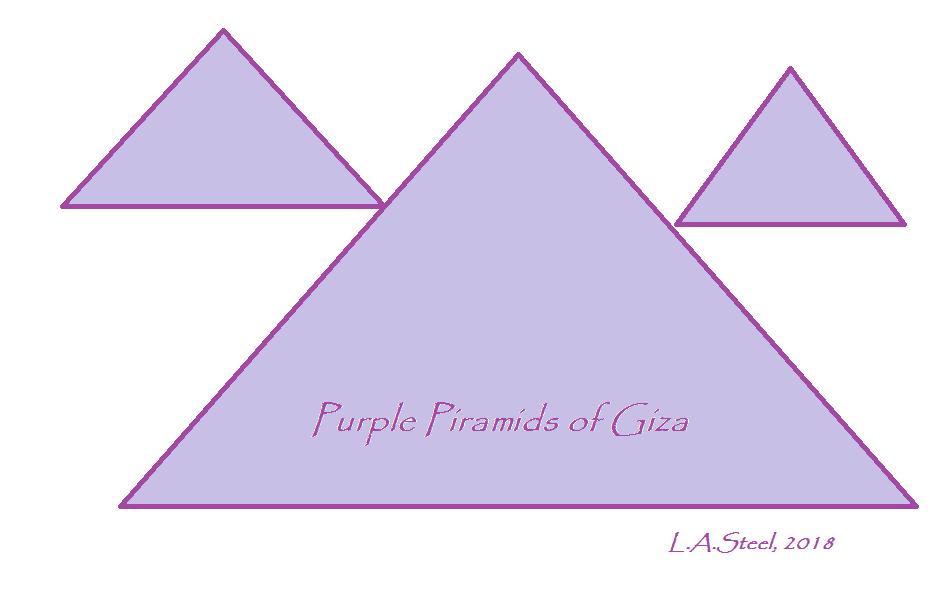 purple piramids of giza 2 2018