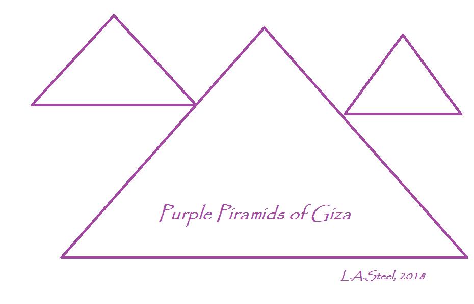 purple piramids of giza 2018