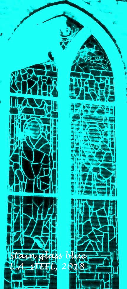 STAINED WINDOW BLUE 2018