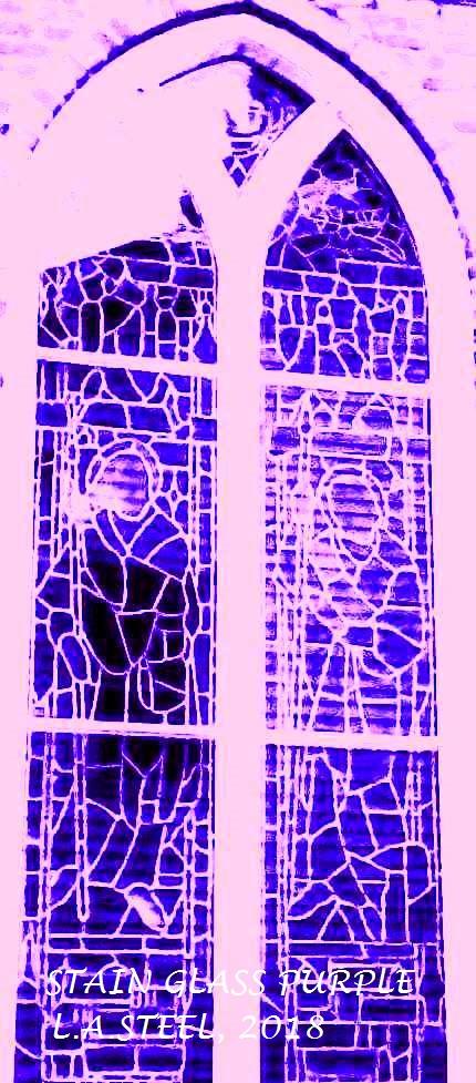 STAINED WINDOW PURPLE 2018