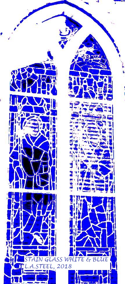 STAINED WINDOW WHITE AND BLUE 2 2018