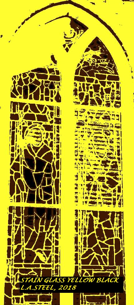 STAINED WINDOW YELLOW AND BLACK 2018