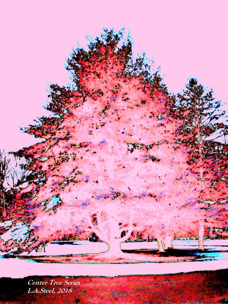 center tree island 2018 pink red