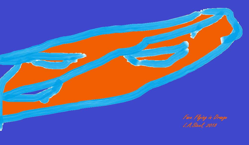face flying in orange 2018